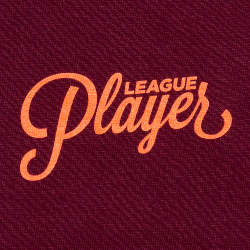 ALLTIMERS LOUNGE PLAYER LONGSLEEVE BURGUNDY