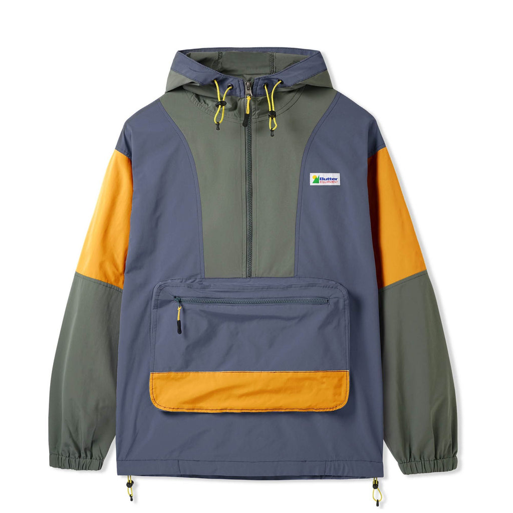 BUTTER GOODS EQUIPMENT PULLOVER JACKET STONE/ARMY/GOLD
