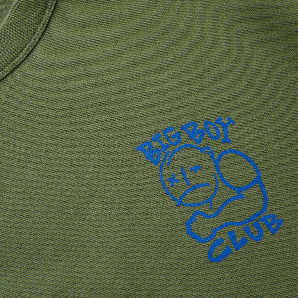 POLAR BIG BOY CLUB CREWNECK SWEAT GREEN