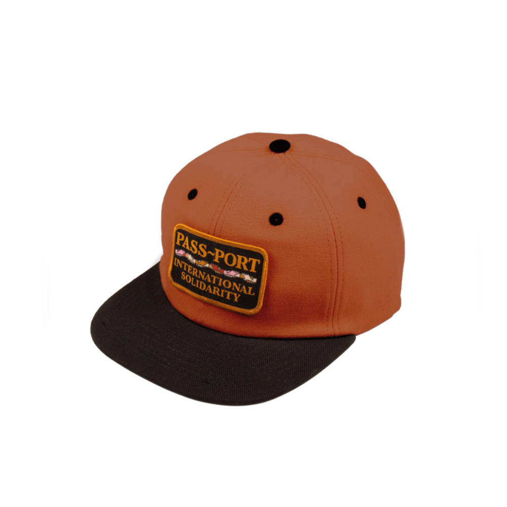 PASS-PORT INTER SOLID PATCH 5 PANEL CAP BROWN/BLACK