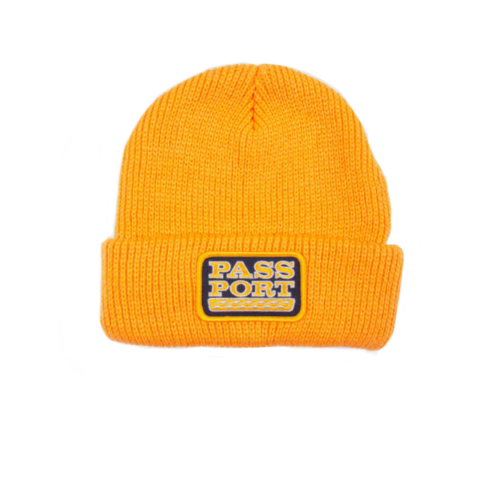 PASS-PORT AUTO PATCH BEANIE GOLD