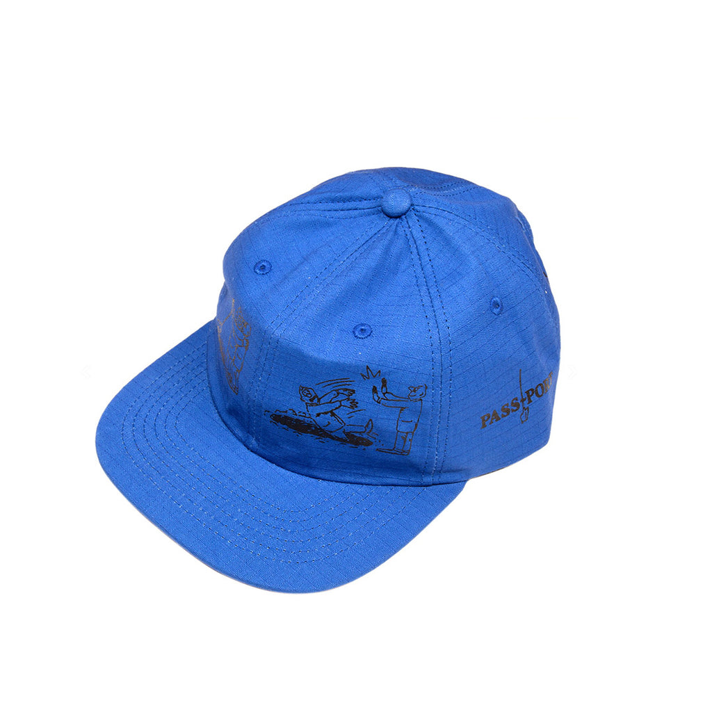 "PASS-PORT ""W.C.W.B.F?"" CAP ROYAL BLUE"