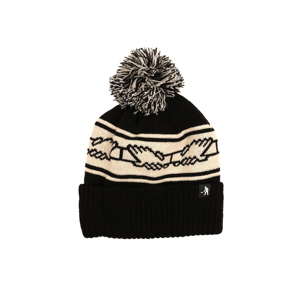 PASS-PORT POM POM BEANIE BLACK