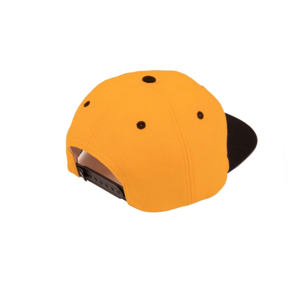 PASS-PORT INTER SOLID PATCH 5 PANEL CAP GOLD/BLACK