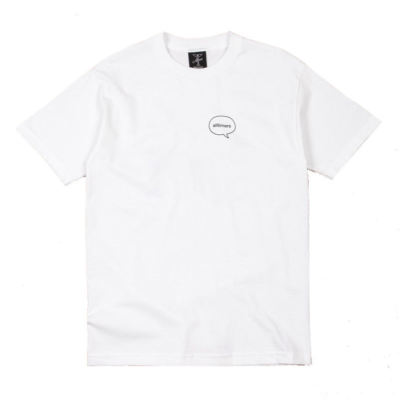 ALLTIMERS WATER TALK TEE WHITE