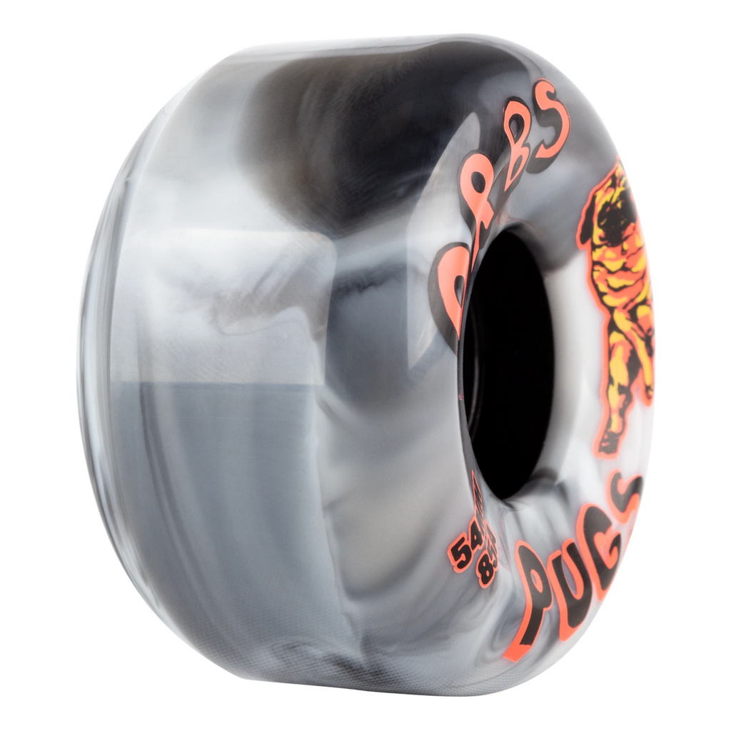 ORBS PUGS CONICAL 85A BLACK / WHITE 54mm