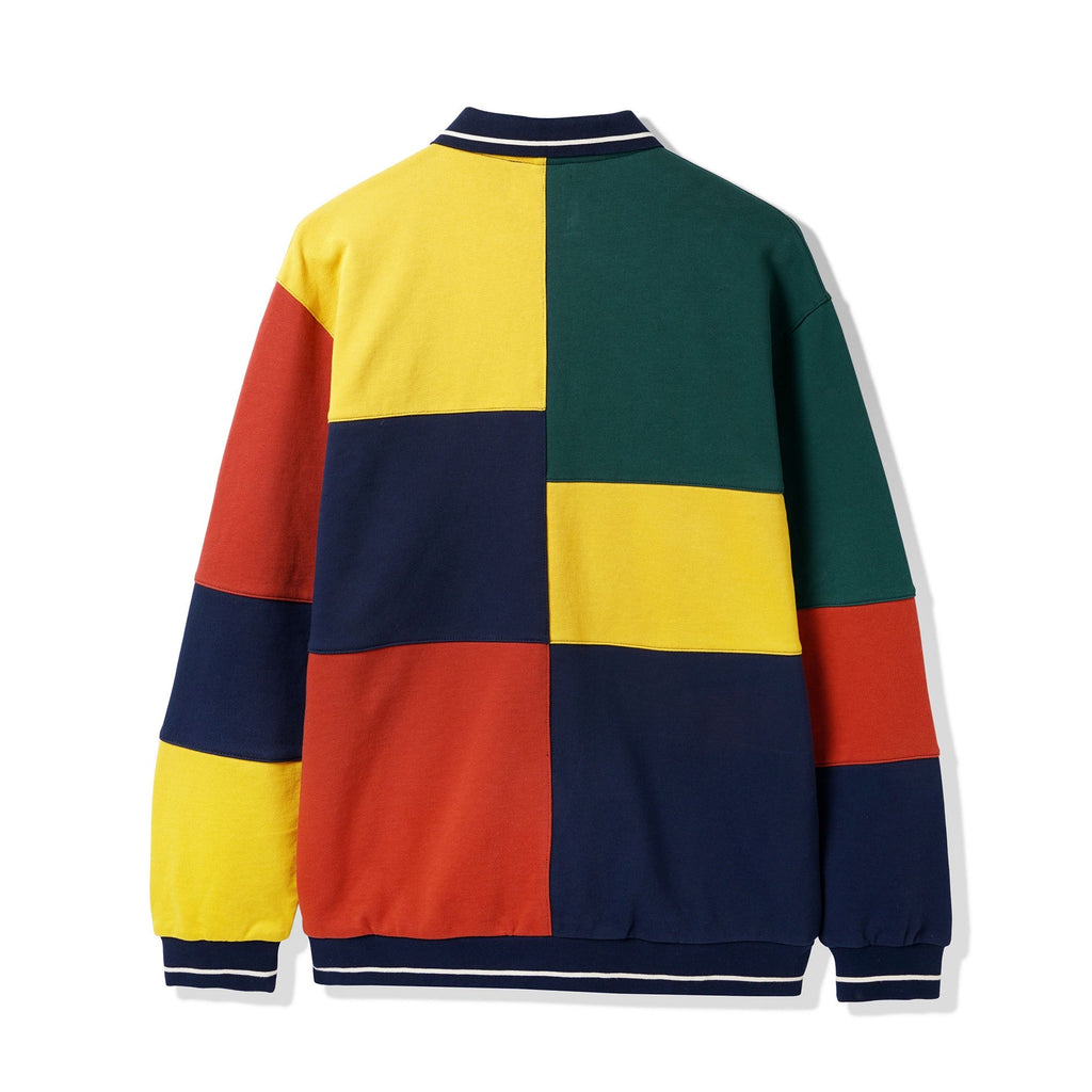 BUTTER GOODS PATCHWORK PULLOVER SWEATSHIRT NAVY/ GOLD