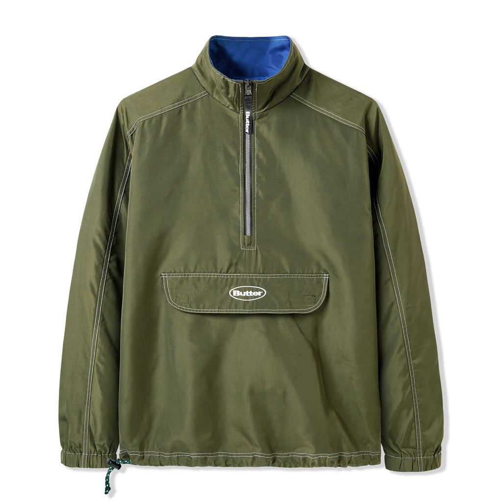 BUTTER GOODS KNAP PACKABLE JACKET ARMY
