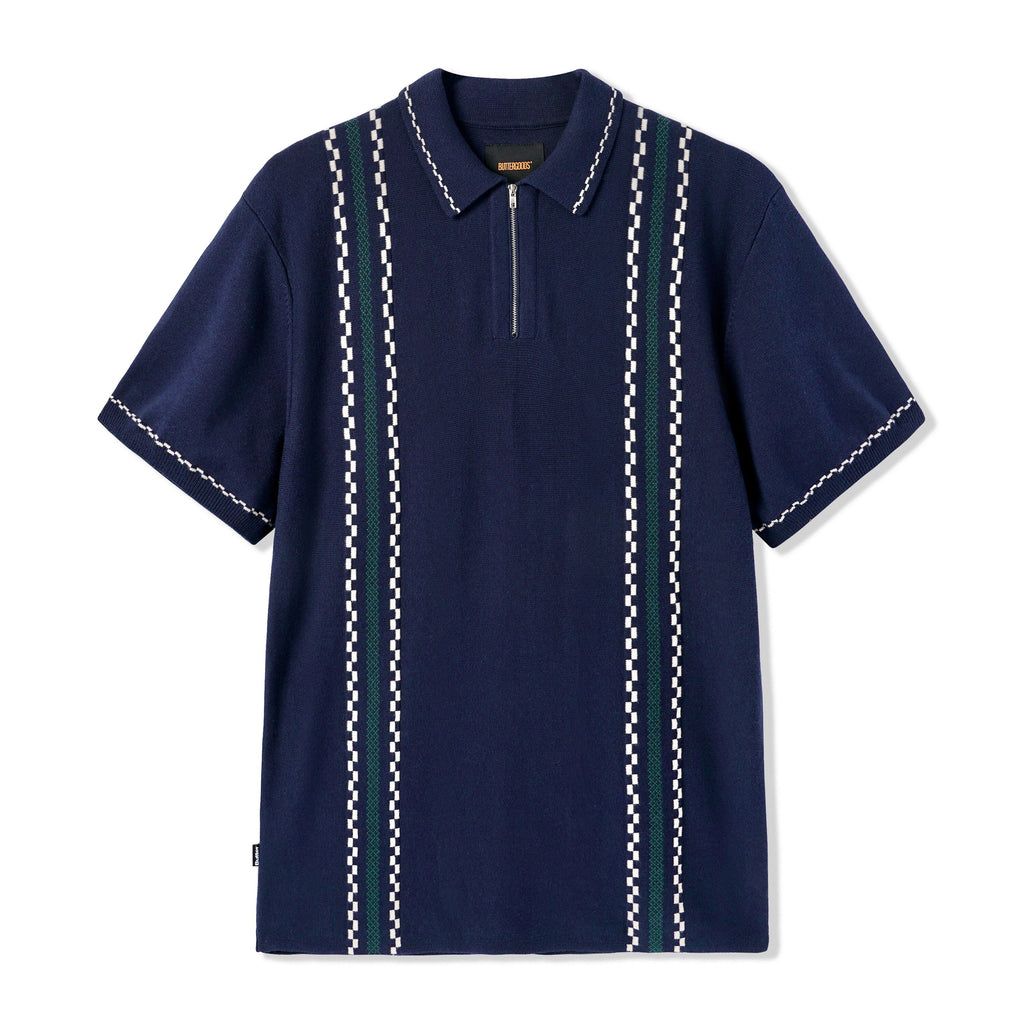 BUTTER GOODS VITO POLO SHIRT NAVY