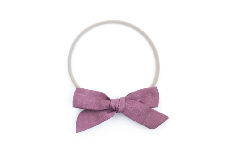 PLUM LINEN | MAXI  Bows for babies, toddlers & kids | Kids Clothing and Accessories | La-Bel