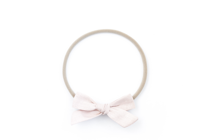 BLUSH LINEN | MINI Bows for babies, toddlers & kids | Kids Clothing and Accessories | La-Bel