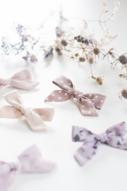 MAUVE POLKADOT | MINI Bows for babies, toddlers & kids | Kids Clothing and Accessories | La-Bel