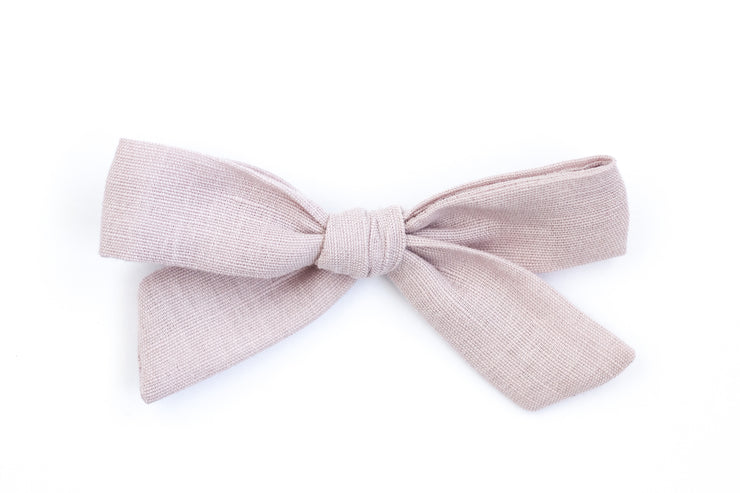 DUSTY PINK LINEN | MAXI Bows for babies, toddlers & kids | Kids Clothing and Accessories | La-Bel