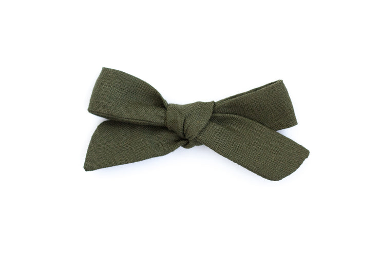 EVERGREEN LINEN |MINI Bows for babies, toddlers & kids | Kids Clothing and Accessories | La-Bel