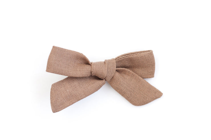 FAWN LINEN | MINI Bows for babies, toddlers & kids | Kids Clothing and Accessories | La-Bel