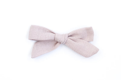 DUSTY PINK LINEN | MINI Bows for babies, toddlers & kids | Kids Clothing and Accessories | La-Bel