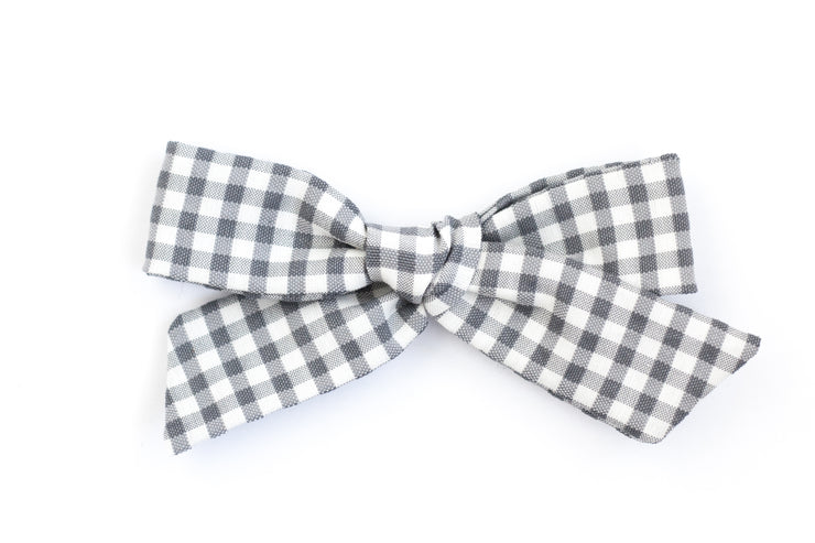 BLUE GINGHAM | MAXI Bows for babies, toddlers & kids | Kids Clothing and Accessories | La-Bel
