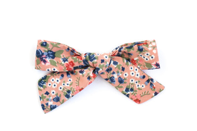 ROSE PINK FLORAL | MAXI Bows for babies, toddlers & kids | Kids Clothing and Accessories | La-Bel