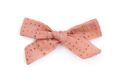 CORAL EYELET | MAXI Bows for babies, toddlers & kids | Kids Clothing and Accessories | La-Bel