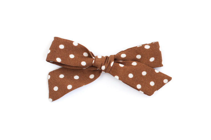 EARTH POLKADOT | MINI Bows for babies, toddlers & kids | Kids Clothing and Accessories | La-Bel