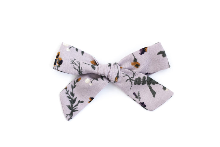 LILAC FLORAL | MINI Bows for babies, toddlers & kids | Kids Clothing and Accessories | La-Bel