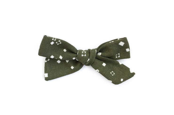 SCATTERED EVERGREEN  | MINI Bows for babies, toddlers & kids | Kids Clothing and Accessories | La-Bel