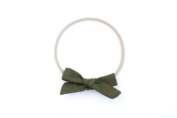 EVERGREEN LINEN | MAXI Bows for babies, toddlers & kids | Kids Clothing and Accessories | La-Bel