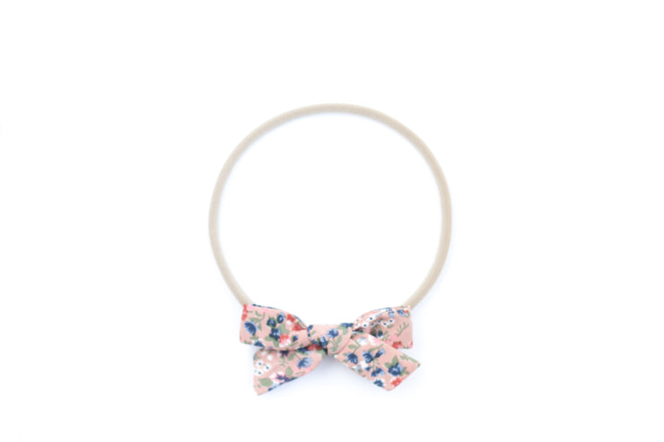 ROSE PINK FLORAL | MINI Bows for babies, toddlers & kids | Kids Clothing and Accessories | La-Bel