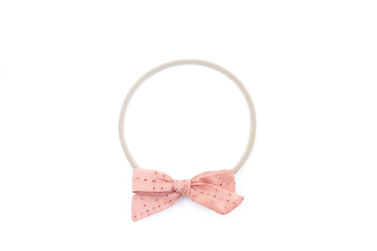 CORAL EYELET | MINI Bows for babies, toddlers & kids | Kids Clothing and Accessories | La-Bel