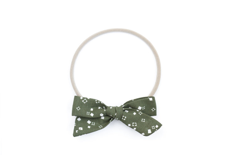 SCATTERED EVERGREEN  | MAXI Bows for babies, toddlers & kids | Kids Clothing and Accessories | La-Bel