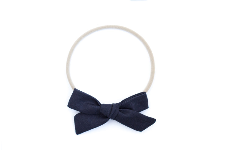 NAVY LINEN | MAXI Bows for babies, toddlers & kids | Kids Clothing and Accessories | La-Bel