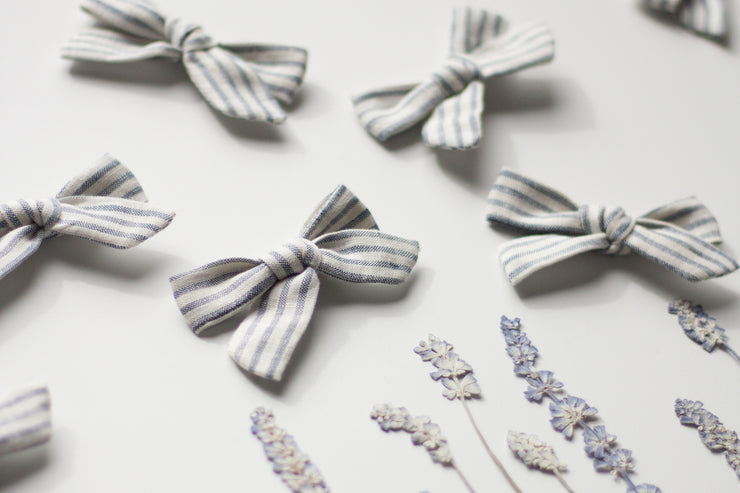 FRENCH STRIPE | MINI Bows for babies, toddlers & kids | Kids Clothing and Accessories | La-Bel