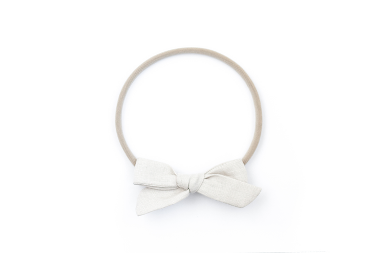 NATURAL LINEN | MINI Bows for babies, toddlers & kids | Kids Clothing and Accessories | La-Bel