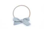 DUSTY BLUE LINEN | MAXI Bows for babies, toddlers & kids | Kids Clothing and Accessories | La-Bel