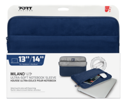 PORT DESIGNS MILANO 13/14′ NOTEBOOK SLEEVE BLUE - Platinum Selection