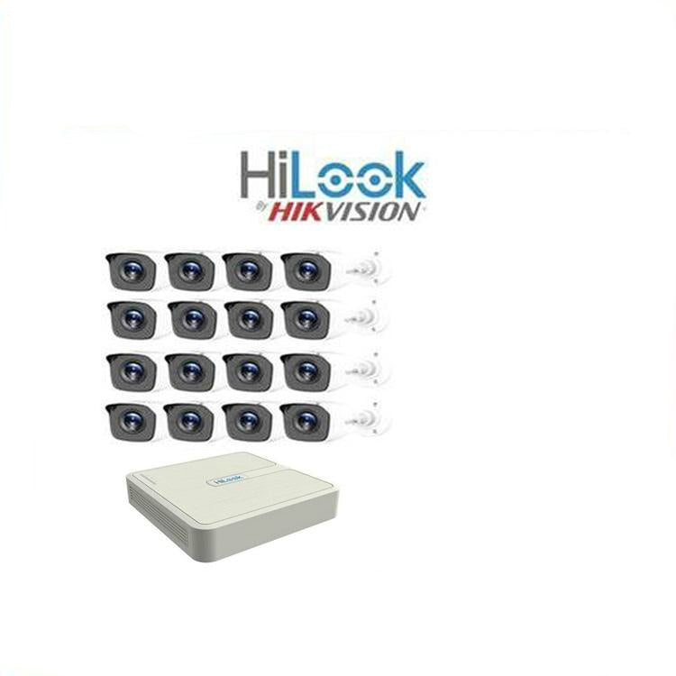 HiLook by Hikvision 16ch Turbo HD kit - DVR - 16 x HD720P Camera - 20M Night vision - 1TB HD - 100m Cable - Platinum Selection