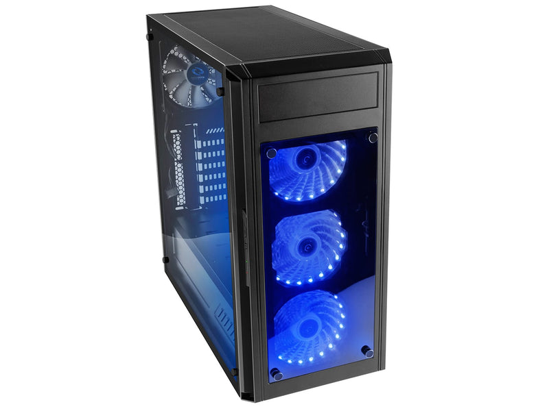 Raidmax Alpha Prime RGB LED Tempered Glass Side/Front (GPU 390mm) ATX Gaming Chassis Black - Platinum Selection