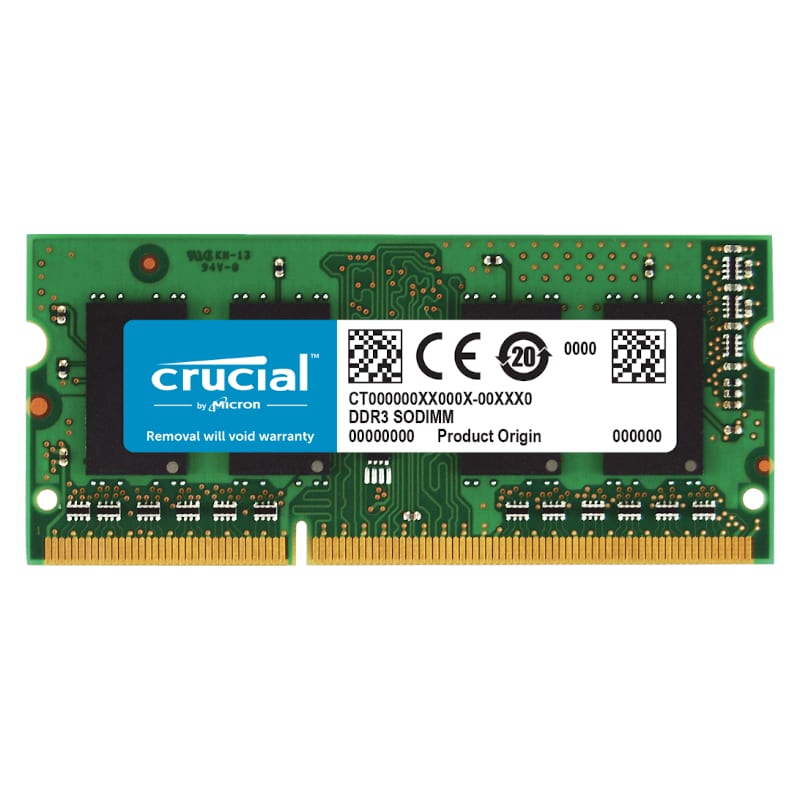 Crucial Mac 4GB DDR3 1600MHz SO-DIMM - Platinum Selection