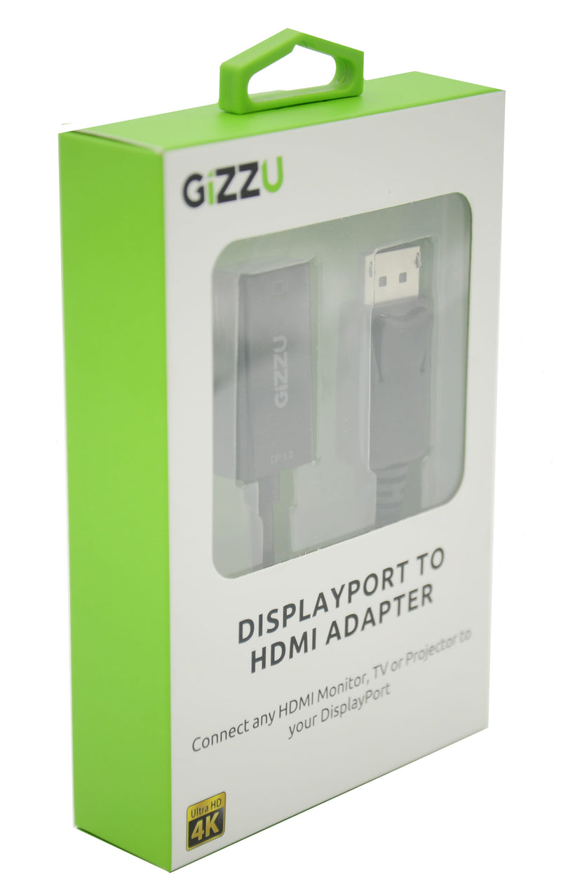 GIZZU Display Port to HDMI Active Adapter - Black - Platinum Selection