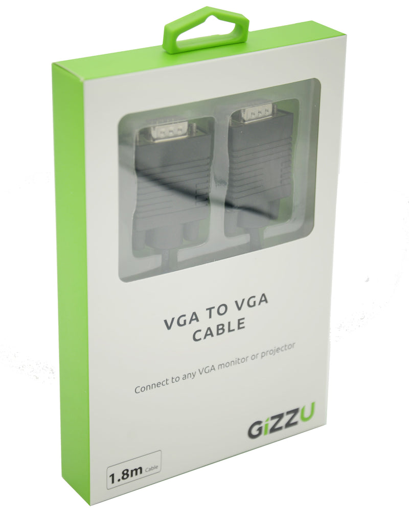 GIZZU VGA to VGA 1.8m Cable Black - Platinum Selection