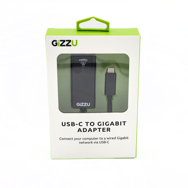 GIZZU USB-C to Gigabit Adapter - Black - Platinum Selection