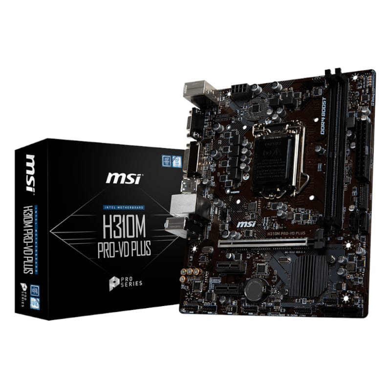 MSI INT H310M 2XDDR4 4XSATA3 - Platinum Selection