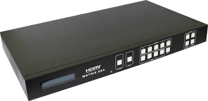 HDCVT 4x4 HDMI 4k Matrix over HDBaseT 100m Include Receivers - Platinum Selection