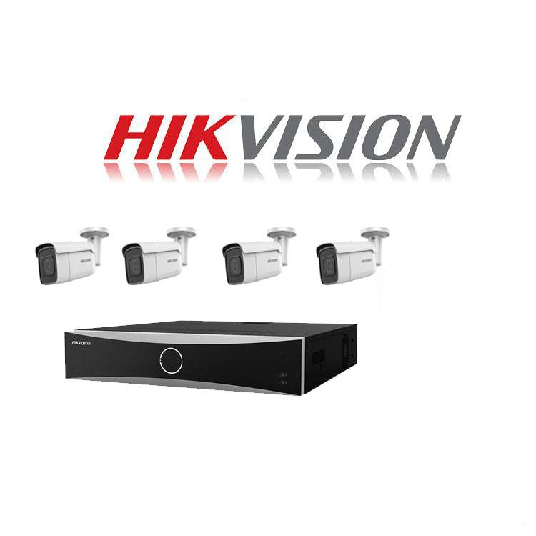 Hikvision ACUSENSE 4MP IP camera kit - 16ch 4K NVR - 4 x 4MP IP cameras - 1TB HDD - 100M cable - 80M Night vision - Platinum Selection