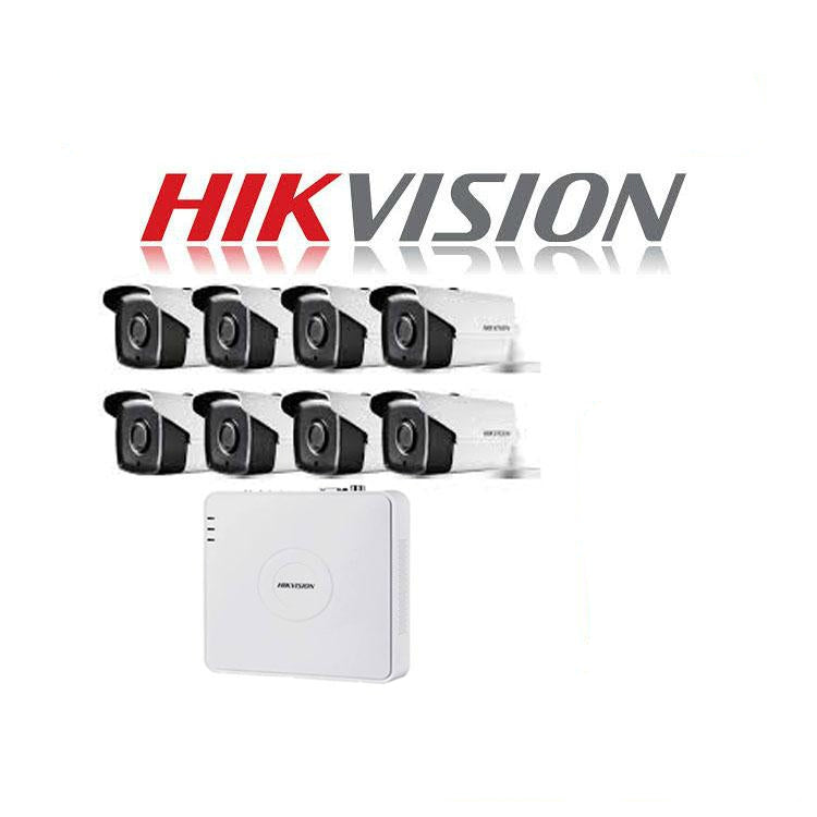HikVision 8 Ch Turbo HD Kit - Embedded DVR - 8 x HD720P Camera - 40M Night vision - 1TB HD - 100m Cable - Platinum Selection