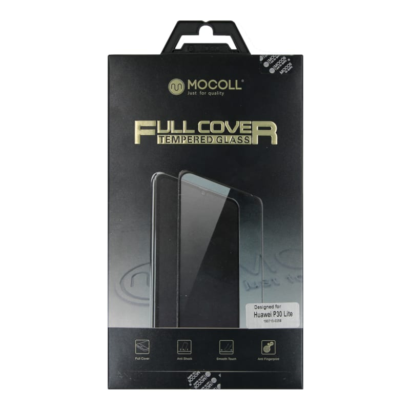 Mocoll 2.5D 9H Tempered Glass Full Cover 0.33mm Huawei P30 Lite Black - Platinum Selection