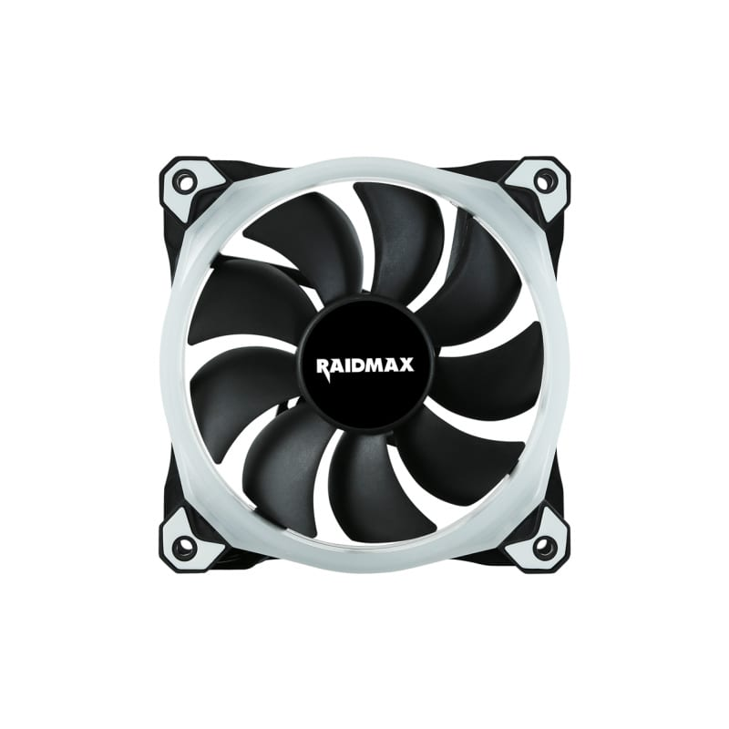 Raidmax 120mm 1200RPM 20-23aBA RGB Fan (Compatible with: Fusion 2.0/Mystic Light Sync/Aura Sync) - Platinum Selection