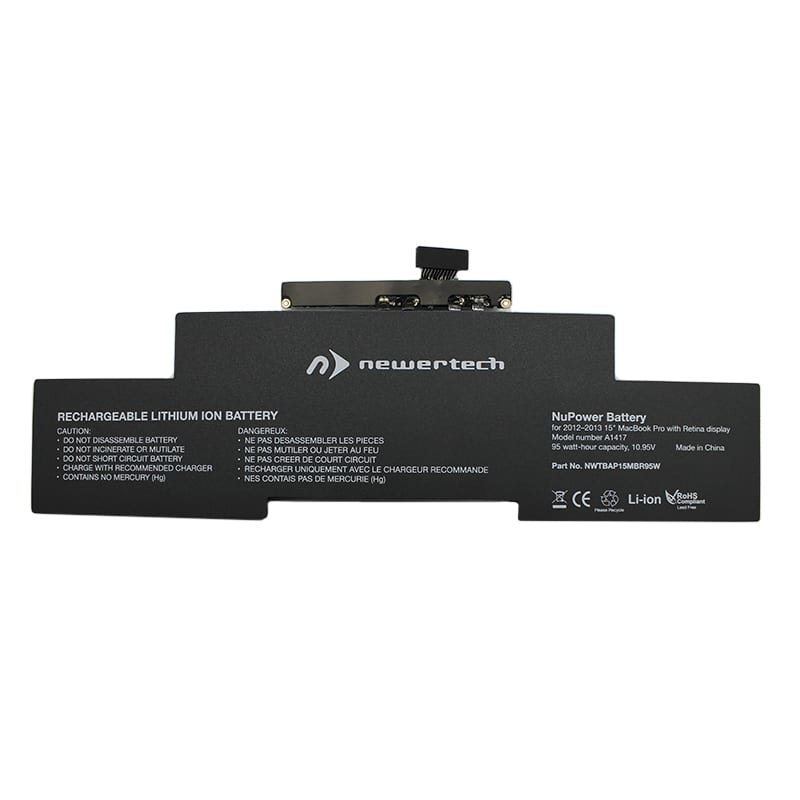Newertech 95W Replacement Battery for 15 Macbook Pro with Retina Display (Mid 2012-Early 2013)