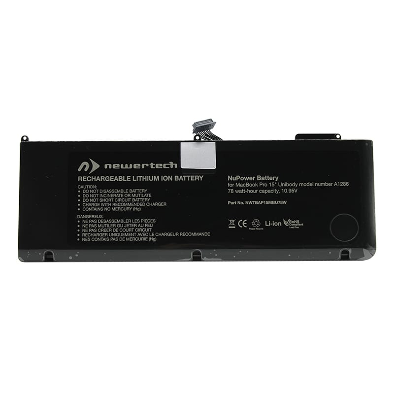 Newertech 77.5W Replacement Battery for 15 Macbook Pro (Early 2011-Mid 2012)