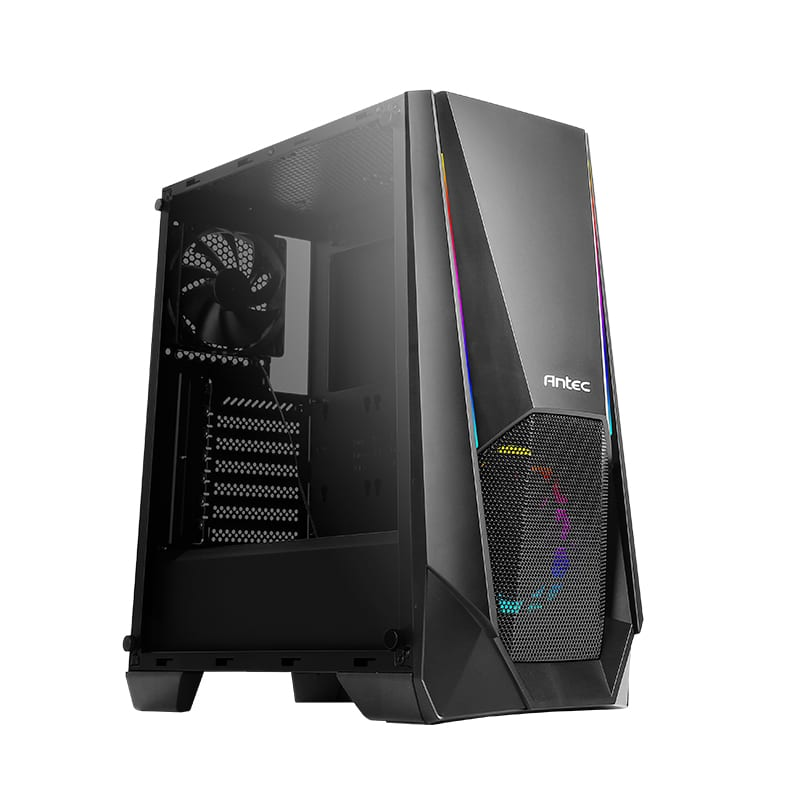 Antec NX310 ARGB LED Tempered Glass Side (GPU 320mm) ATX|Micro ATX|ITX Gaming Chassis - Black - Platinum Selection